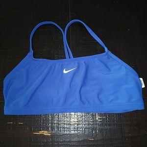Nike Blue Swim Bikini Top Strappy Size 8 NWT